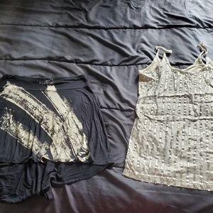 women med VOLCOM skirt & sleeveless sequin top